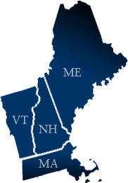 Maine, New Hampshire, Vermont and Massachusetts